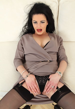 British Milf Anal Stockings