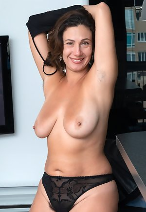 Down lingerie strips glad masturbate brunette to are still more